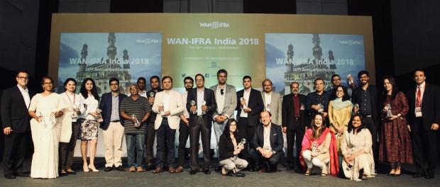 Winners of the WAN-IFRA South Asian Digital Media Awards 2018